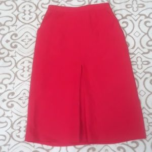 Red vintage Sears and Roebuck polyester red skirt
